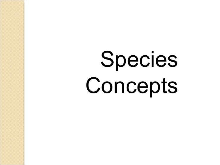 Species Concepts