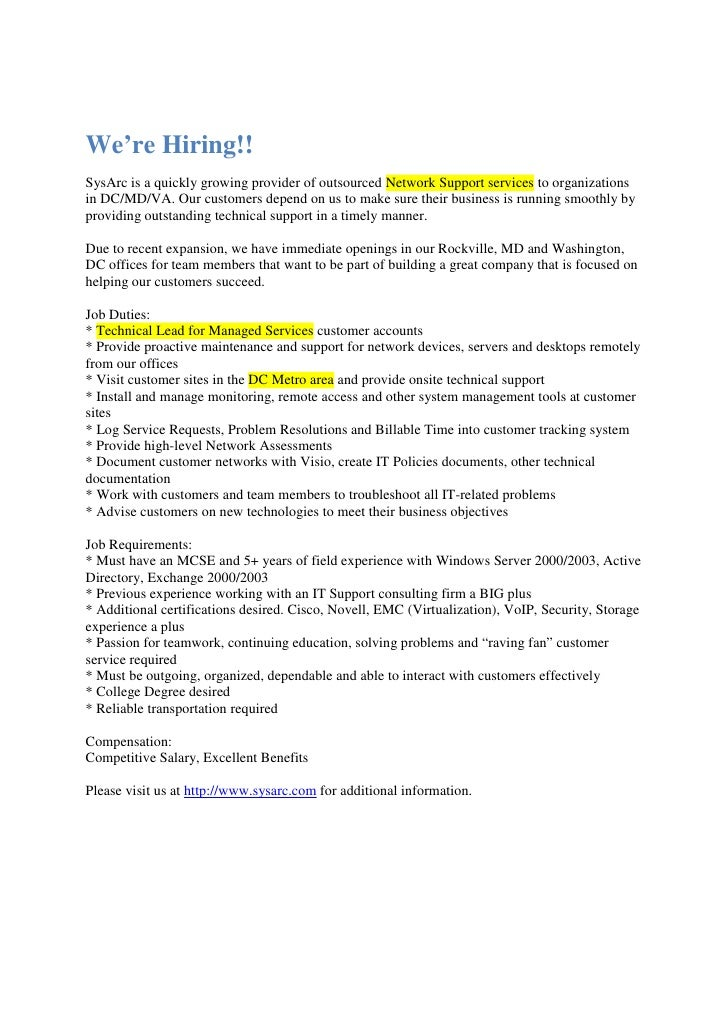 System Administrator Job Description Press Release 2 5 09