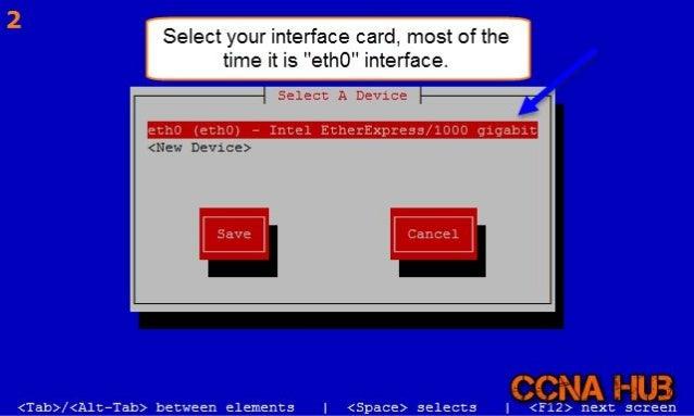 CentOS 6.7 System Config Network Tool Slide 2