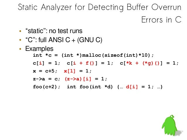 Static Analyzer – Example: cdc_acm.c(Linux device driver)