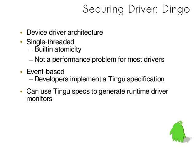 Event-based Device Driver