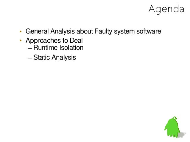 General Analysis about FaultySystem Software