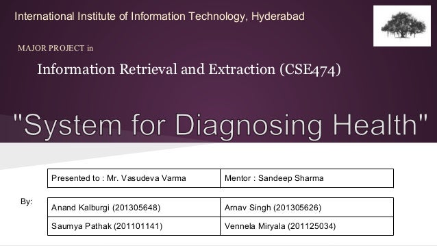 Information Retrieval and Extraction (CSE474) MAJOR PROJECT in International Institute of Information Technology, Hyderaba...
