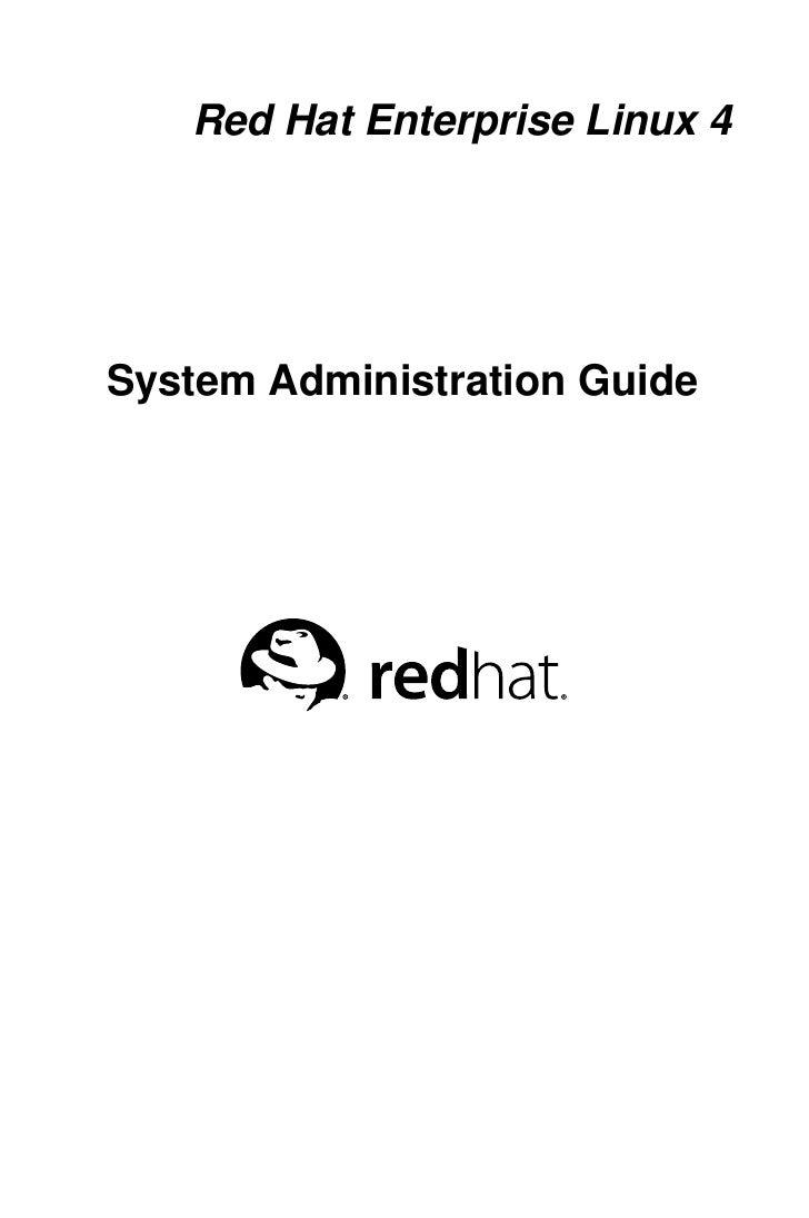 Red Hat Enterprise Linux 4System Administration Guide