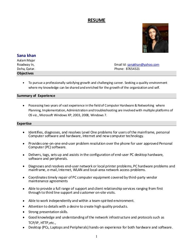 system administrator resume format - Sample Resume For Admin Jobs In Singapore
