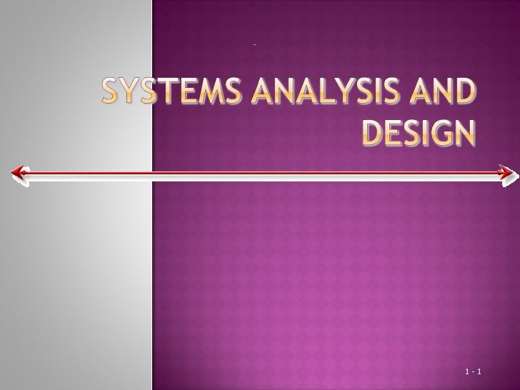 System Analysis And Design Management Information System