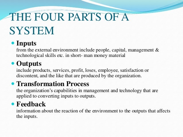 internal external environment open systems theory Within organizational theory, the open systems metaphor has supplanted the   as katz and kahn (1978:27) explained, any internal or external factor that.