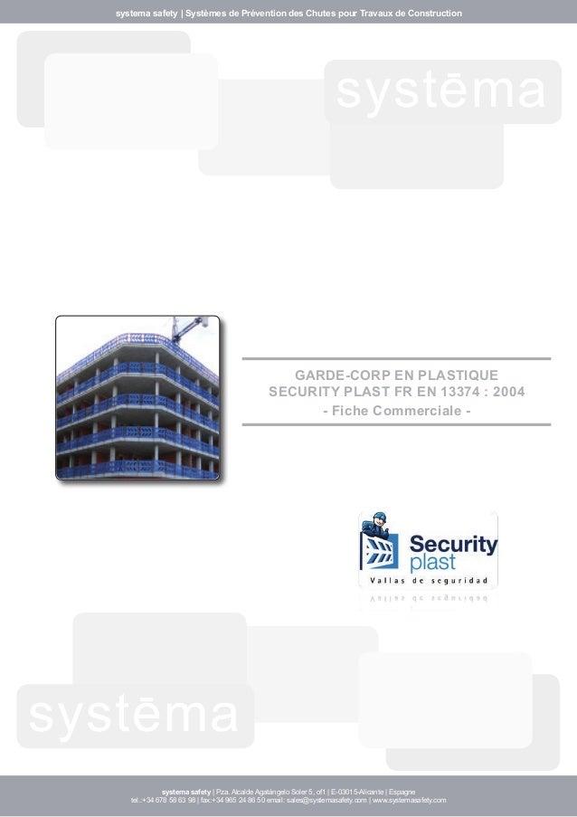 systema safety | Systèmes de Prévention des Chutes pour Travaux de Construction  systema  systema  GARDE-CORP EN PLASTIQUE...