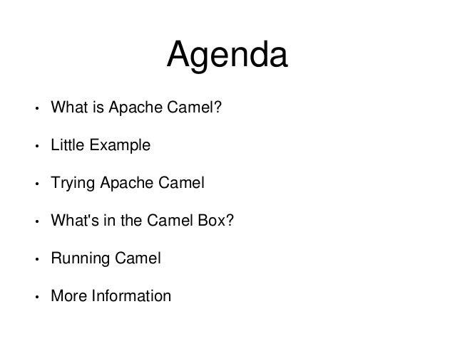Introduction to apache camel malvernweather Choice Image