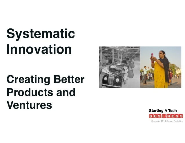 Copyright 2014 Cowan Publishing Systematic