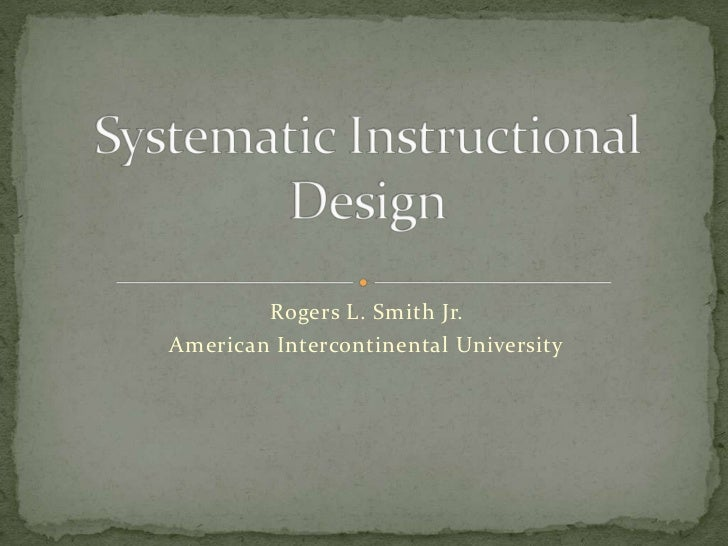 Rogers L. Smith Jr.American Intercontinental University