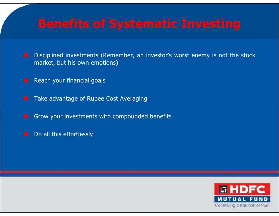 Systematic investment plan1 18 benefits of systematic investingdisciplined investments solutioingenieria Images