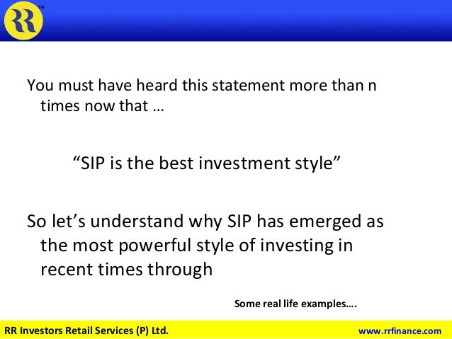 """You must have heard this statement more than n times now that … """"SIP is the best investment style"""" So let's understand why..."""