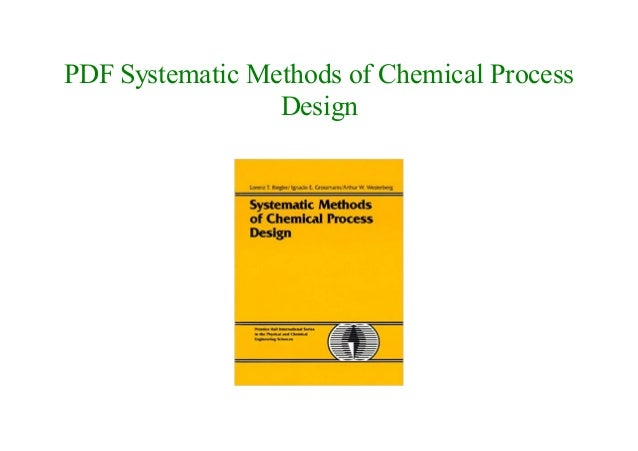 PDF Book Systematic Methods of Chemical Process Design NEW 2018