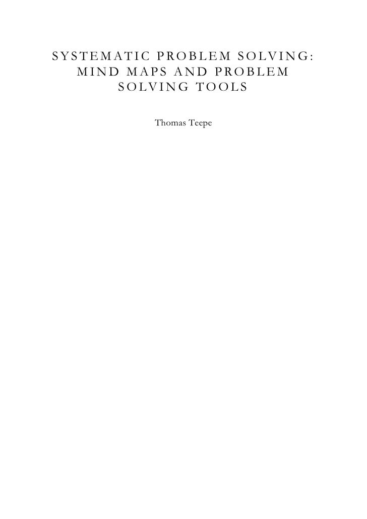 systematic problem solving View problem solving white papers just below  solution-caused problems and how to prevent them when is a solution a problem without systematic troubleshooting, .