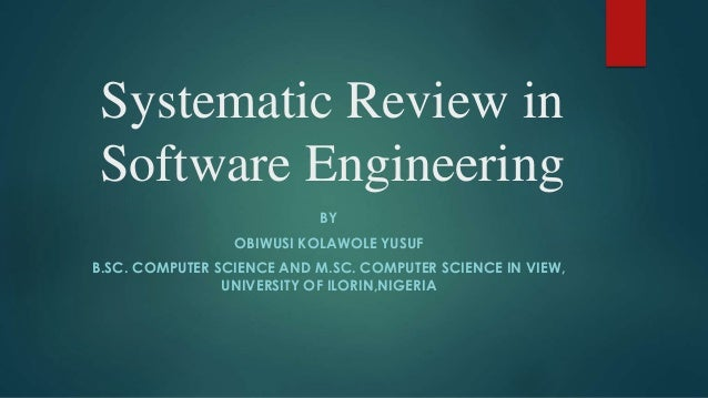 A systematic review of software maintai