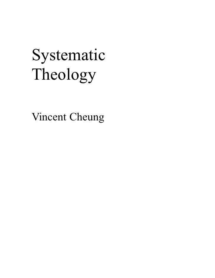 SystematicTheologyVincent Cheung