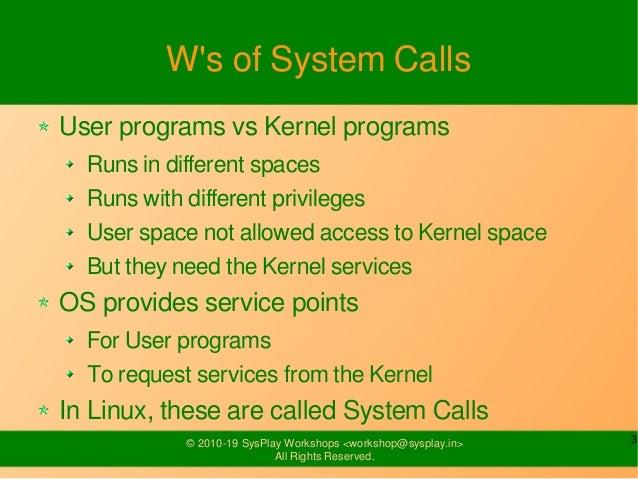 System Calls Slide 3