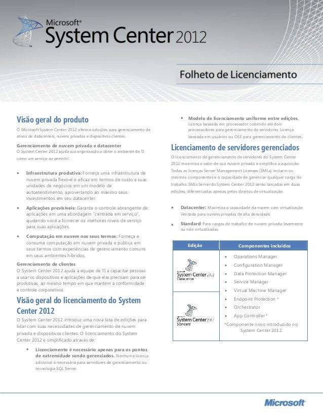  Modelo de licenciamento uniforme entre edições. Licença baseada em processador cobrindo até dois processadores para ger...