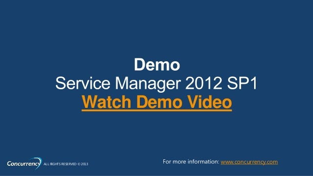 Watch Demo VideoALL RIGHTS RESERVED © 2013          www.concurrency.com