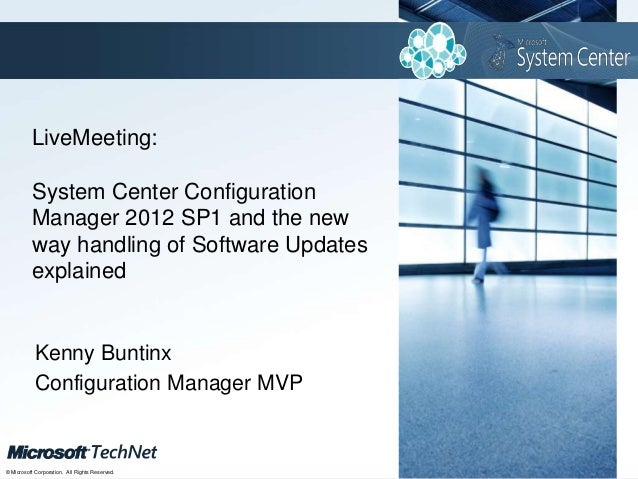 Click to edit Master title style          LiveMeeting:          System Center Configuration          Manager 2012 SP1 and ...