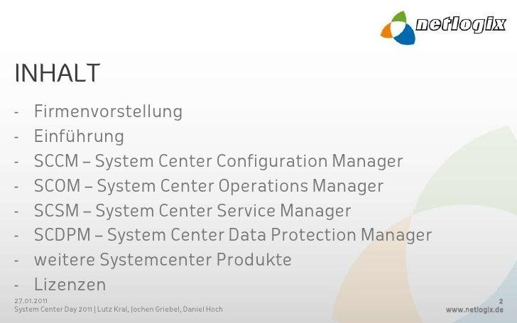 Microsoft System Center Day 2011 Slide 2