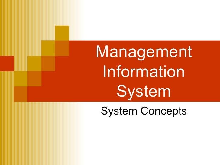 Management Information System System Concepts