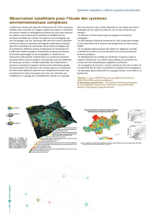 Systèmescomplexes 10 Systèmes complexes, collecte et gestion des données 10 Observation satellitaire pour l'étude des syst...