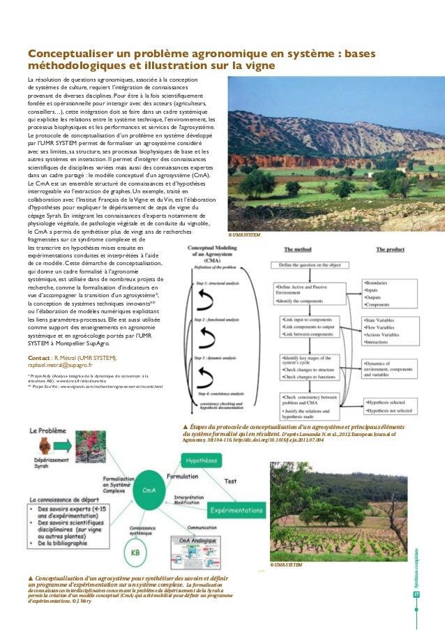 Systèmescomplexes 17 Conceptualiser un problème agronomique en système : bases méthodologiques et illustration sur la vign...