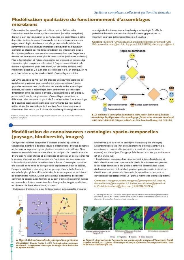 Systèmescomplexes 18 Systèmes complexes, collecte et gestion des données Modélisation de connaissances : ontologies spatio...