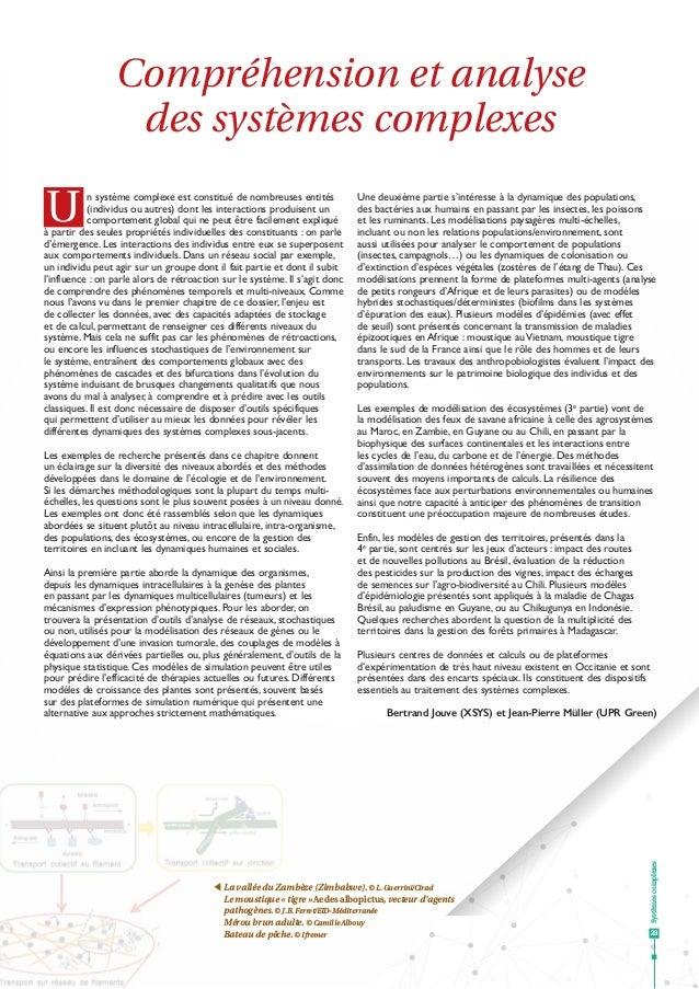 Systèmescomplexes 23 Un système complexe est constitué de nombreuses entités (individus ou autres) dont les interactions p...