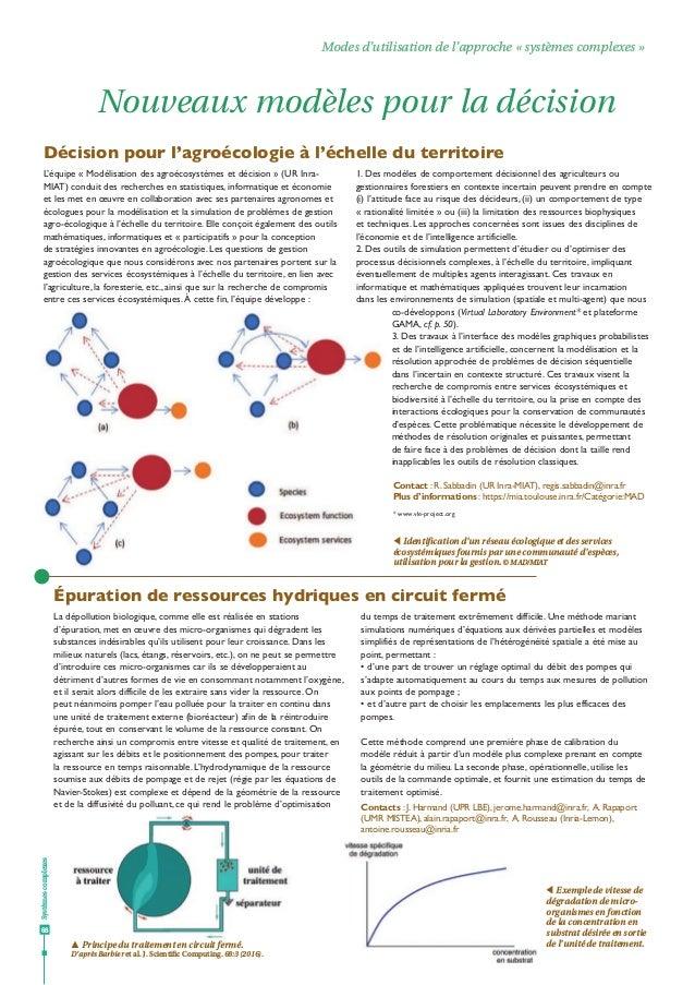 """Dossier Agropolis : """"Systemes complexes de la biologie aux territoires"""" - n° 23 - Juin 2018"""