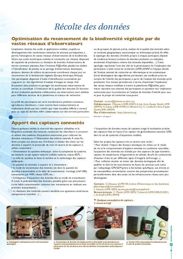 Systèmescomplexes 9 Récolte des données qq Quelques exemplaires de capteurs. © Laurent de Knyff Apport des capteurs connec...