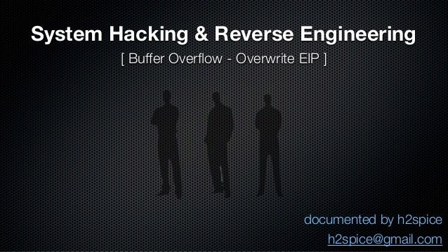 System Hacking & Reverse Engineering  documented by h2spice  h2spice@gmail.com  [ Buffer Overflow - Overwrite EIP ]