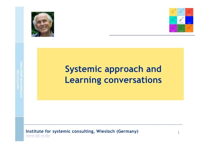 Systemic approach and                  Learning conversationsInstitute for systemic consulting, Wiesloch (Germany)   1www....