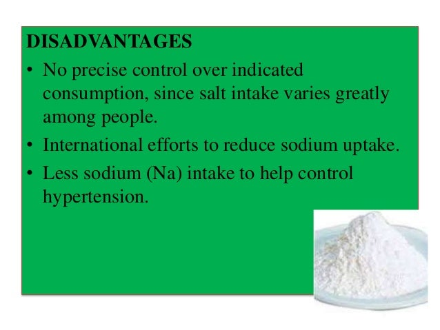 alternative method of producing iodized salt Iodized salt is the most important source of iodine worldwide, and is also the   controlling body regular monitoring of the iodine content of salt at production  sites,  to iodized salt and natural forms of iodine in foods, there may be  alternative  method and also more appropriate for use in the post-salt-iodization  state as the.