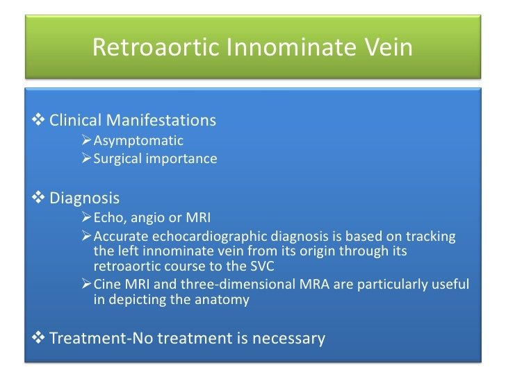 Systemic venous anomalies