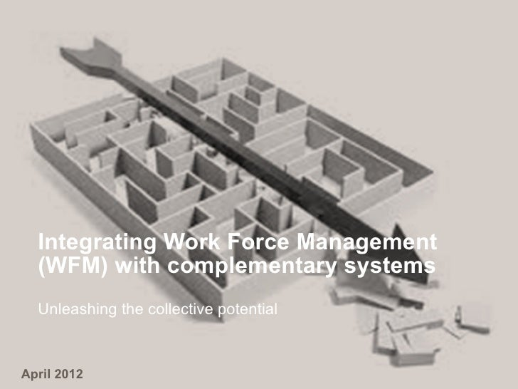 Integrating Work Force Management  (WFM) with complementary systems  Unleashing the collective potentialApril 2012