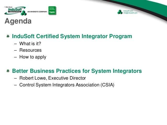 Better Business Practices for System Integrators-InduSoft Presentation Slide 2