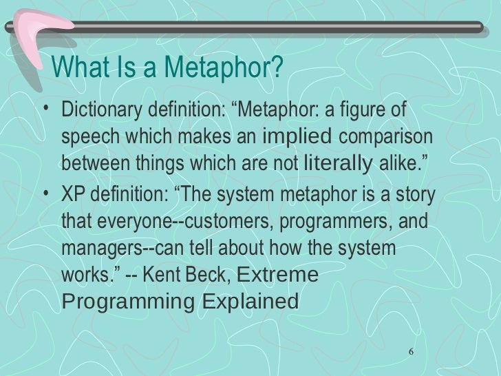 The System Metaphor Explored