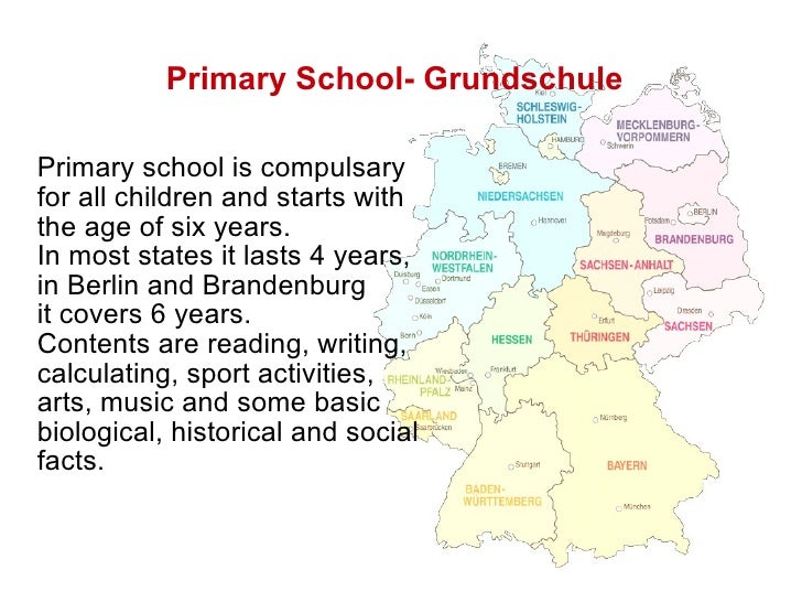 schooling system in germany The german education system provides different paths for students based on individual ability children enter the grundschule at age 6, and students of all levels of ability remain together as a group through the fourth grade of grundschule (sixth grade in two states) following grundschule, when most students are around.