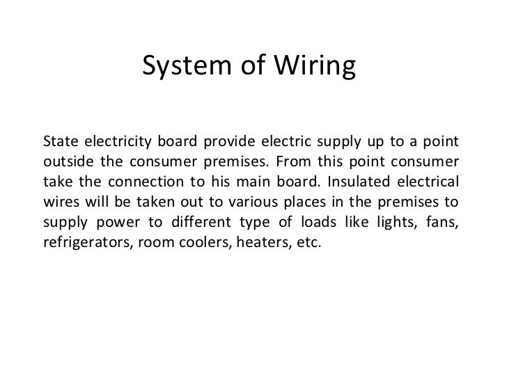 system of wiring 1 728 jpg cb 1349245657 rh slideshare net what is cleat wiring system what is electrical wiring system