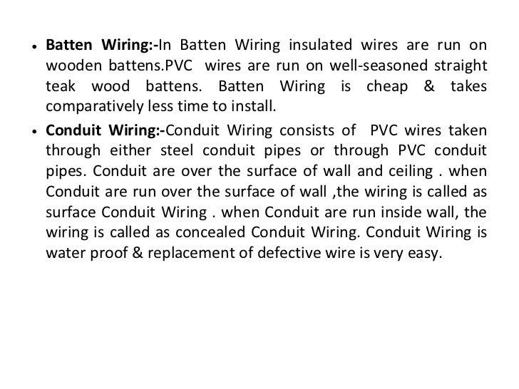 4. u2022 Batten Wiring-In ...  sc 1 st  SlideShare : cleat wiring system - yogabreezes.com