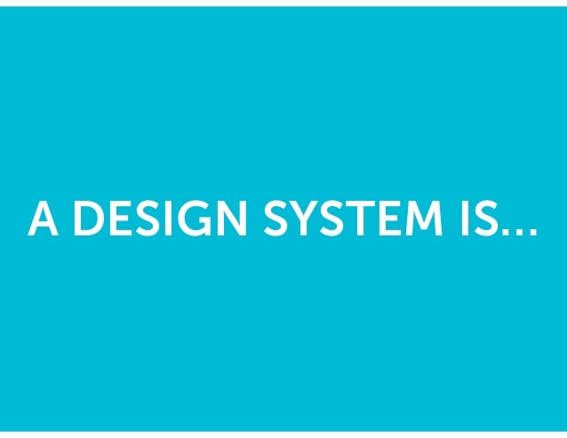 Our system is (ultimately) an HTML/CSS playbook for 1 product team to build a consistent design. http://ux.mailchimp.com/p...
