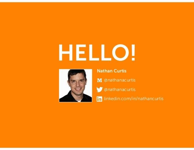 HELLO! Nathan Curtis @nathanacurtis @nathanacurtis linkedin.com/in/nathancurtis