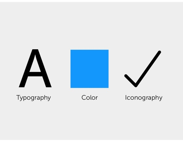 ATypography Color Iconography Space Motion Imagery Logo Writing tone What else A DESIGN LANGUAGE'S MOST COMMON THREE: …AND...
