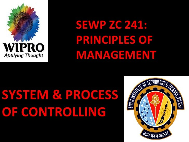 SEWP ZC 241: PRINCIPLES OF MANAGEMENT SYSTEM & PROCESS OF CONTROLLING