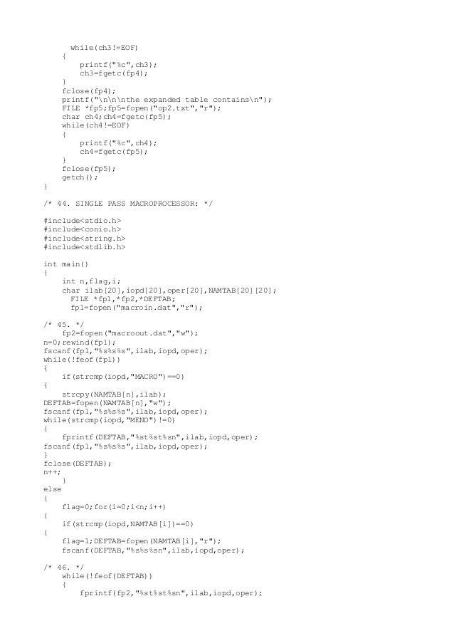 Single pass macroprocessor