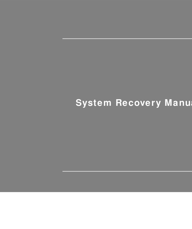 System Recovery Manual