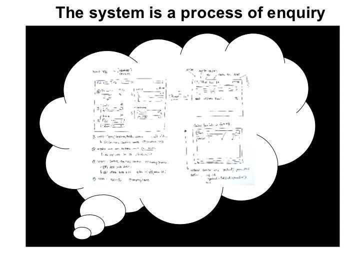 The system is a process of enquiry ?
